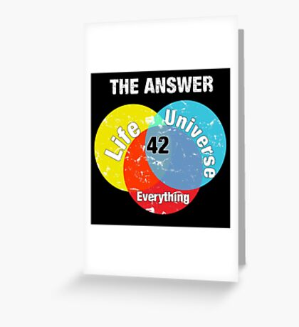 The Answer Greeting Card