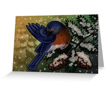 Eastern Bluebird Christmas Card Greeting Card