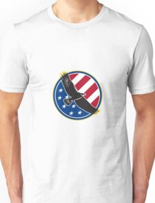 American Eagle Flying USA Flag Retro Unisex T-Shirt