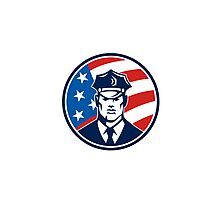 American Policeman Security Guard Retro Photographic Print