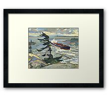 Oil Paintings : An Appropriation Project - Stormy weather Framed Print