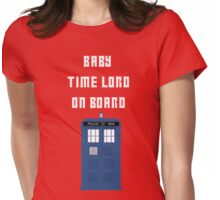 Baby Time Lord On Board Womens Fitted T-Shirt