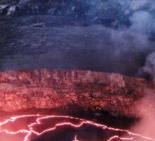 Active Volcano Sticker