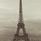 Sepia Eiffel Tower in Paris by Olivier Sohn
