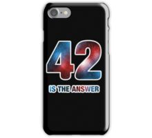42 is the only answer iPhone Case/Skin