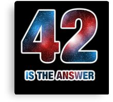 42 is the only answer Canvas Print