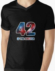 42 is the only answer Mens V-Neck T-Shirt