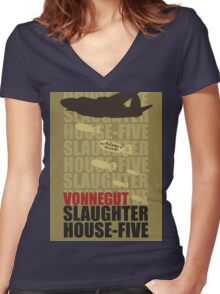 Slaughter House Five Women's Fitted V-Neck T-Shirt