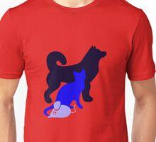 Dog Cat Mouse Unisex T-Shirt