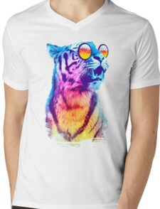 Tiger Breeze Mens V-Neck T-Shirt