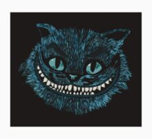 Alice's Cheshire blue head sticker by EdWoody