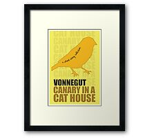 Canary in a Cat House Framed Print