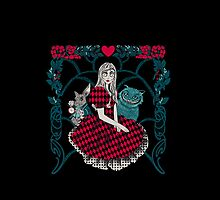 Spooky Alice in wonderland iphone by EdWoody