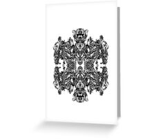 Mechanical Robotic Intricate Pattern Greeting Card