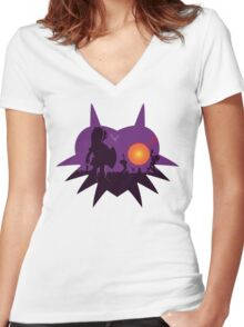 Dawn of the Final Day (Majoras Mask) Women's Fitted V-Neck T-Shirt