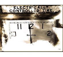 Electrically Controlled Time  Photographic Print