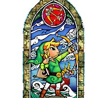 Link, Bow - Stained Glass by Vouch