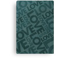 Love Typography Poster Canvas Print