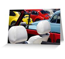 VW Beetles and Seats Greeting Card