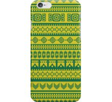 tribal pattern in fresh colors iPhone Case/Skin