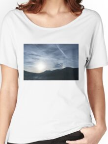 Silver Mist and Rainbow Sundog - A Beautiful Mountain View Women's Relaxed Fit T-Shirt