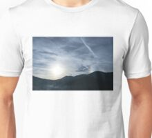 Silver Mist and Rainbow Sundog - A Beautiful Mountain View Unisex T-Shirt
