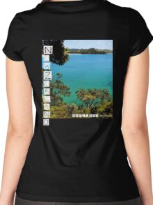 New Zealand - Whale Bay - Tee Women's Fitted Scoop T-Shirt