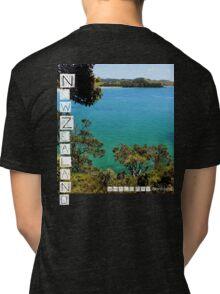 New Zealand - Whale Bay - Tee Tri-blend T-Shirt
