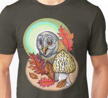 autumn barn owl, with morel Unisex T-Shirt