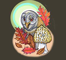 autumn barn owl, with morel Unisex T-Shirt