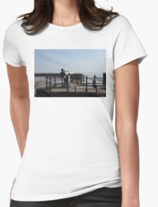 Old Coastal Defences Womens Fitted T-Shirt