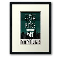Rapture Travel Poster Framed Print