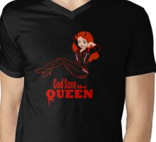 God Save the Queen (of Hell) Mens V-Neck T-Shirt