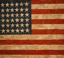 American Flag by Jasper Johns by Gordon Traill