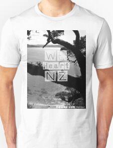 WeHeartNZ - Tshirt - Whale Bay Blk&Wht Unisex T-Shirt