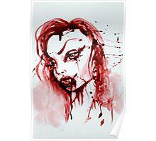 Bloody Vamp Girl Poster