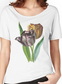 Tulip Vector on White Background Women's Relaxed Fit T-Shirt