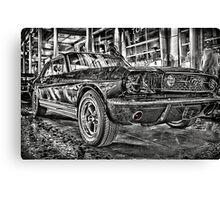 FORD MUSTANG HDR - Black and White version Canvas Print