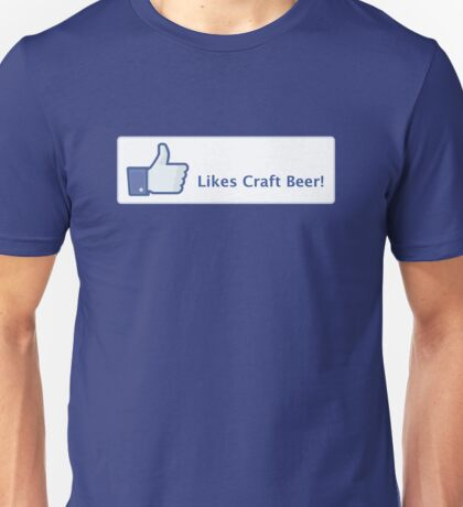 Likes Craft Beer Button Unisex T-Shirt