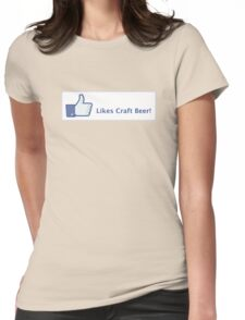 Likes Craft Beer Button Womens Fitted T-Shirt