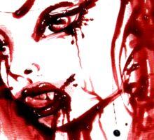Bloody Vamp Girl Sticker