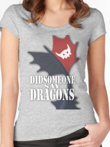 """Did Someone Say ""DRAGONS"" HTTYD Fandom Tee Women's Fitted Scoop T-Shirt"