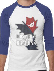 """Did Someone Say ""DRAGONS"" HTTYD Fandom Tee Men's Baseball ¾ T-Shirt"