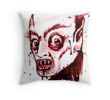Bloody Nosferatu Throw Pillow
