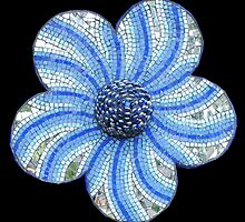 DROUGHT TOLERANT blue by Julee Latimer Mosaics