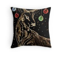 Holiday Blackboard Throw Pillow