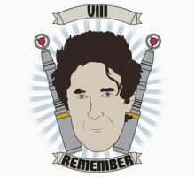 Doctor Who Portraits - Eighth Doctor - Remember (Night of the Doctor) Kids Tee