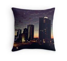 City wakening Throw Pillow