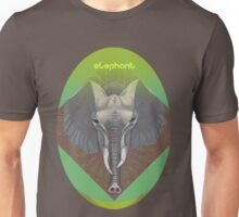 elephant in green. Unisex T-Shirt