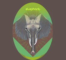 elephant in green. Unisex T-Shirt